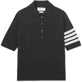 Thom Browne - Slim-fit Striped Cashmere Polo Shirt