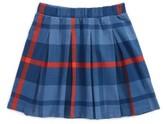 Tea Collection Girl's Tartan Pleated Skirt
