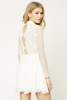 Forever 21 FOREVER 21+ Floral Lace Skater Dress