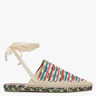 Missoni x Castaner Romy Multicoloured Ankle Tie Backless Espadrilles