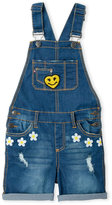 Vigoss Girls 4-6x) Happy Face Denim Overalls