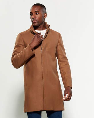 Theory Camel Marvin Wool-Blend Overcoat