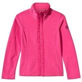 Poivre Blanc Poppy Pink Polar Fleece Jacket