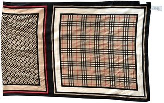 Burberry Camel Silk Scarves