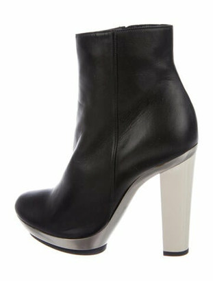 Barbara Bui Ecru Metal Leather Boots Black