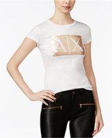 Armani Exchange Sequined Logo T-Shirt