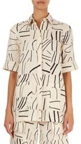 Victoria Victoria Beckham Painted-Line-Print Oversized Shirt