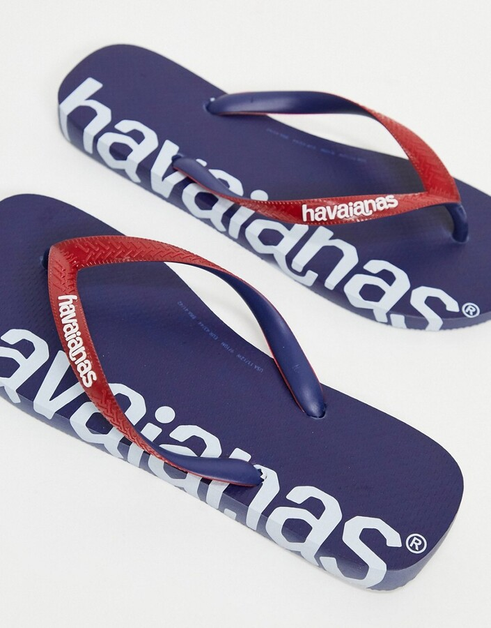 Thumbnail for your product : Havaianas top logomania hightech flip flops in navy