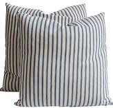 One Kings Lane Vintage Blue & White Ticking Pillows