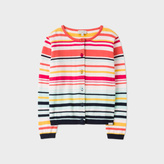 Paul Smith Girls' 7+ Years Multi-Colour-Stripe 'Nymea' Cardigan