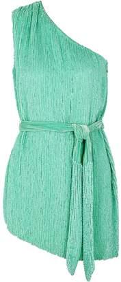 retrofete Ella Turquoise Sequin Mini Dress