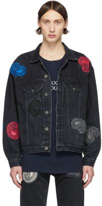 Nahmias Black Denim Paisley Embroidered Jacket