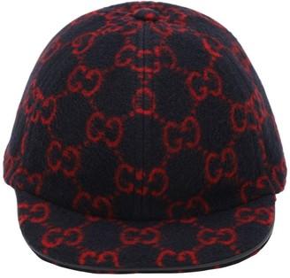 Gucci Gg Wool Blend Baseball Hat
