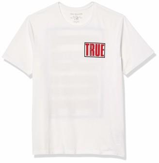 True Religion Men's True Box Graphic Logo Crewneck Tee