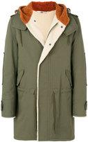 Valentino back print hooded coat