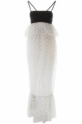 STAUD PETUNIA DRESS 6 Black, White