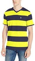 U.S. Polo Assn. Men's Rugby Stripe V-Neck T-Shirt