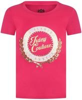 Juicy Couture Fuchsia Collegiate Laurel Top