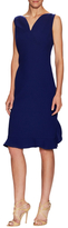 Oscar de la Renta Silk Flared Hem Sheath Dress