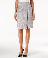 Kasper Tweed Zip-Front Pencil Skirt