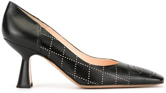 Chanel Pre Owned Diamond Punch Holes Pointed Pumps