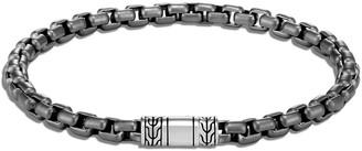 John Hardy Men's Classic Chain Black Rhodium Box Chain Bracelet, Size M-L