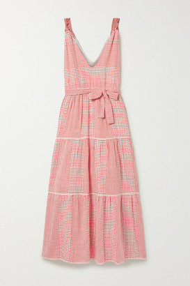 Lemlem Semira Cotton-gauze Maxi Dress - White