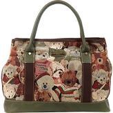 Nicole Lee Women's Reiny Bear Tapestry Shopper