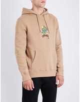 Stussy Cactus-embroidered Cotton-jersey Hoody
