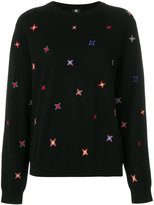 Paul Smith embroidered star print jumper