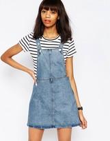 Monki Denim Overall Dress