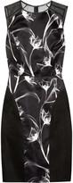 Jason Wu Printed satin and silk-chiffon dress