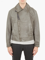 Lanvin Khaki Asymmetrical Flight Jacket