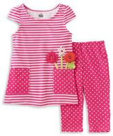Kids Headquarters Two-Piece Printed Tunic and Leggings Set