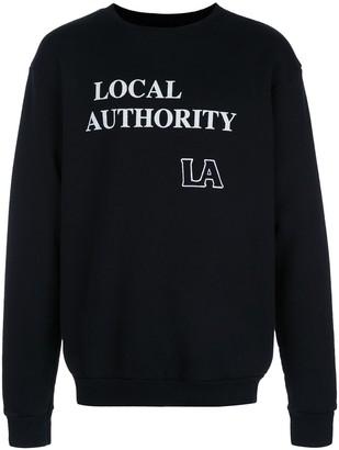 Local Authority Logo Print Round Neck Sweatshirt