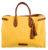 Ralph Lauren Canvas & Leather E/W Tote w/ Tags