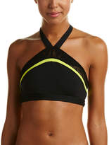 Trina Turk Reaction Lace And Shine High-Neck Sports Bra