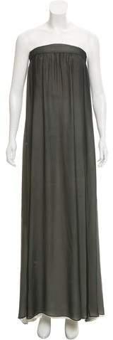 Giorgio Armani Strapless Silk Dress w/ Tags