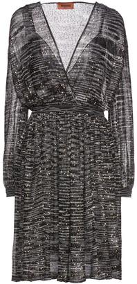 Missoni Wrap-effect Sequin-embellished Crochet-knit Dress