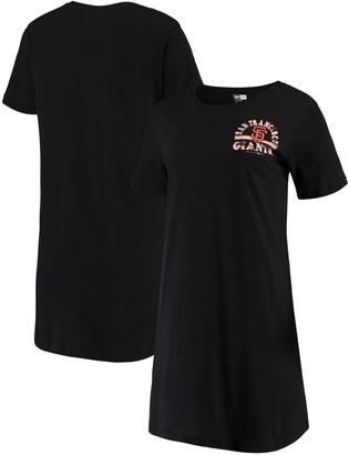 New Era Women's 5th & Ocean by Black San Francisco Giants Jersey T-Shirt Dress