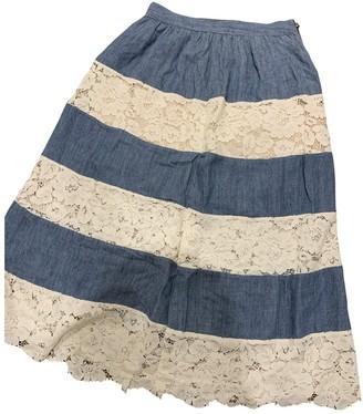 Alice + Olivia Blue Linen Skirt for Women
