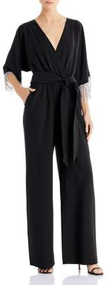 Laundry by Shelli Segal Embellished Faux-Wrap Jumpsuit - 100% Exclusive