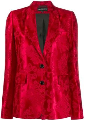 Ann Demeulemeester Daphne satin pattern blazer