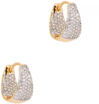Fallon Armure mini pave gold-plated hoop earrings