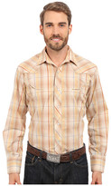 Roper Embroidered 0294 Earth Tone Plaid w/ Gold Lurex