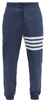 Thom Browne Logo-print Drawstring-waist Track Pants - Mens - Navy