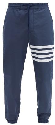 Thom Browne Logo-print Drawstring-waist Track Pants - Navy