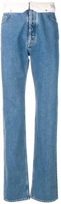 Maison Margiela turnover waist bootcut jeans