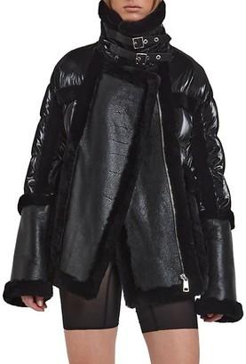 Nicole Benisti Garnier Shearling Aviator Puffer Jacket