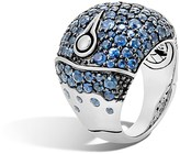 John Hardy Bamboo Sterling Silver Lava Dome Ring with Blue Sapphire - 100% Exclusive
